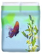 Free To Fly - Butterfly In Flight Duvet Cover