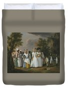 Free Women Of Color With Their Children And Servants In A Landscape Duvet Cover