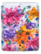 Freedom For Flowers Duvet Cover