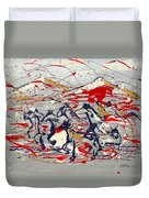 Freedom On The Open Range Duvet Cover by J R Seymour