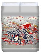 Freedom On The Open Range Duvet Cover