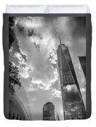 Freedom Tower Bw Duvet Cover