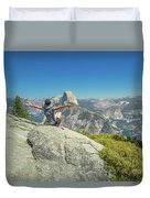 Freedom Woman At Glacier Point Duvet Cover