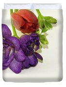 Freesia And Tulip Duvet Cover