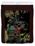 Freeway Park Steps Duvet Cover