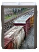 Freight Train Abstract Duvet Cover