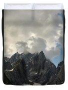 French Alps Peaks Duvet Cover