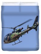 French Army Gazelle Helicopter Duvet Cover