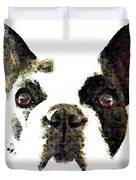 French Bulldog Art - High Contrast Duvet Cover by Sharon Cummings