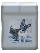 French Bulldog Mom And Pup Duvet Cover
