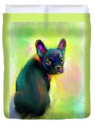 French Bulldog Painting 4 Duvet Cover