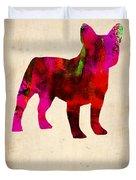 French Bulldog Poster Duvet Cover