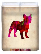 French Bulldog Poster Duvet Cover by Naxart Studio