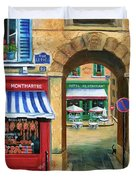 French Butcher Shop Duvet Cover