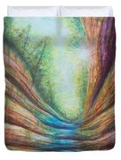 French Canyon At Starved Rock State Park Duvet Cover