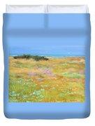 French Coastal Landscape Duvet Cover