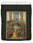 French Court, 1458 Duvet Cover