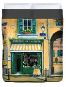 French Creperie Duvet Cover by Marilyn Dunlap