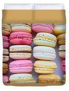 French Delicious Dessert Macaroons Duvet Cover