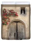 French Doors And Ghost In The Window Duvet Cover by Marilyn Dunlap