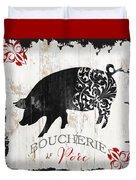 French Farm Sign Piglet Duvet Cover
