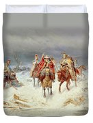 French Forces Crossing The River Berezina In November 1812 Duvet Cover