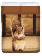 French Fry Eating Squirrel2 Duvet Cover
