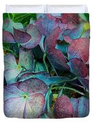 French Hydrangea Rainbow Duvet Cover