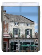 French Market Cafe Duvet Cover