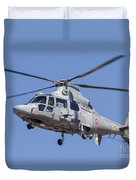 French Navy As565 Panther Helicopter Duvet Cover
