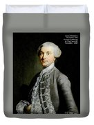 French Nobleman At The Court Of Versailles -1788 V A  Duvet Cover