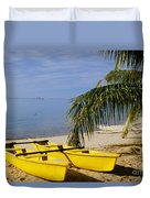French Polynesia, Rangiro Duvet Cover by Mary Van de Ven - Printscapes