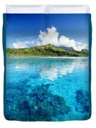 French Polynesia, View Duvet Cover