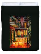 French Quarter Alley Duvet Cover