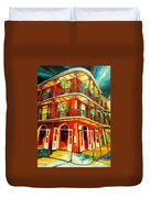 French Quarter Corner Duvet Cover