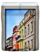 French Quarter In Summer Duvet Cover
