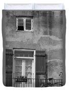 French Quarter Window Duvet Cover