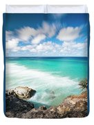Frenchmans Beach On Stradbroke Island, Queensland. Duvet Cover