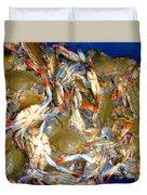 Fresh Crab In Market Duvet Cover