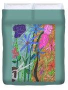 Fresh Cut Flowers Duvet Cover