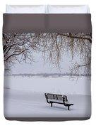 Fresh Fallen Snow Duvet Cover