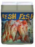 Fresh Fish Duvet Cover