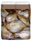 Fresh Fishes In A Market 4 Duvet Cover