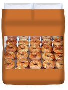 Fresh Frosted Doughnuts On Sale Duvet Cover