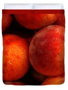 Fresh Fuzzy Peaches Duvet Cover