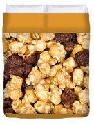 Fresh Gourmet Popcorn In Filled Frame Layout  Duvet Cover