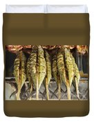 Fresh Grilled Asian Fish In Kep Market Cambodia Duvet Cover