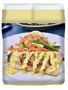 Fresh Grilled Mahi Mahi Duvet Cover