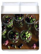 Fresh Harvested Olives And Tunas Duvet Cover