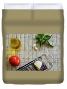 Fresh Italian Cooking Ingredients Duvet Cover